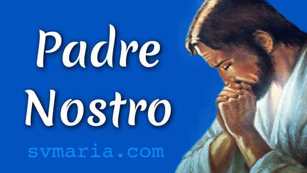 Padre Nostro preghiera preghiere in italiano foto