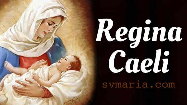 Regina Caeli Coeli preghiera cattolica foto madonna bimbo gesu